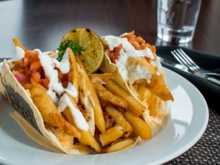 Clam Diggers seafood tacos